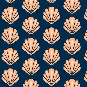 Clamshells -Navy/Coral