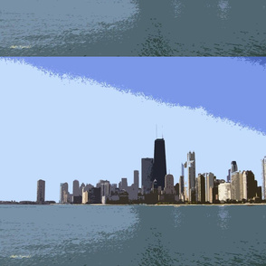 Cutout Paint of Chicago Skyline