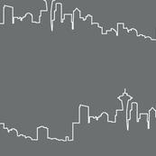 Seattle Skyline - Fog Gray