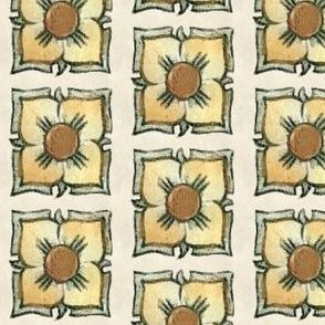 Art Nouveau Floral Squares