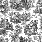 French Toile...Negro Toil (Black / White)