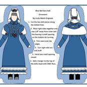Blue Bell Sara Cut and Sew Victorian Doll Ornament