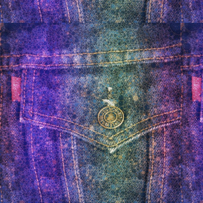 Percolated Rainbow Denim