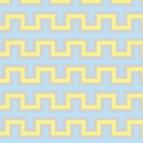 Squarest Wave - Blue Yellow Gray