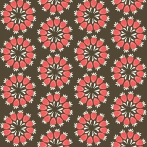 Strawberry Floral in red