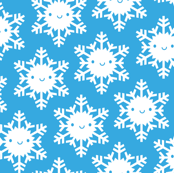 Kawaii Winter Snowflakes (Blue Sky)