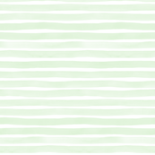 Mint Watercolor Stripes by Friztin