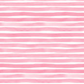 Bubblegum Pink Watercolor Stripes by Friztin - © 2016 friztin.com