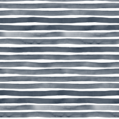 Navy Blue Watercolor Stripes by Friztin