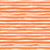 Orange Watercolor Stripes by Friztin