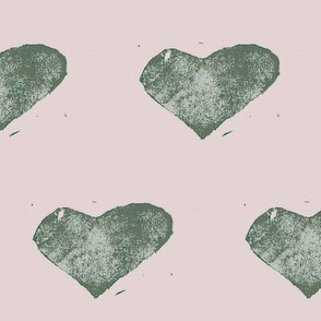 stamped with love - sage green and pink