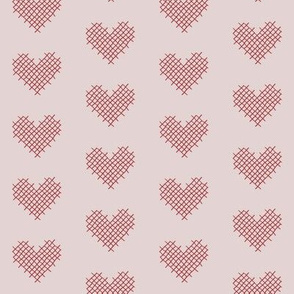 sweet heart - pink and red