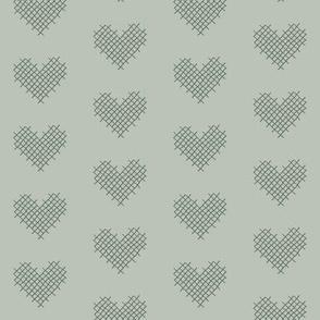 sweet hearts - sage greens