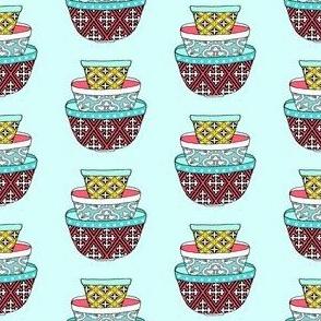 Retro Bowls - Aqua