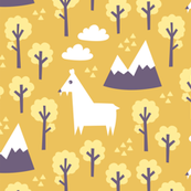 Musk deer forest yellow