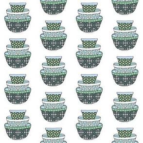 Retro Green & Blue Bowls