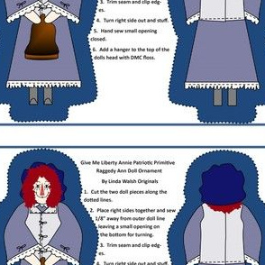 Give Me Liberty Annie Cut and Sew Doll Ornament