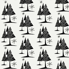Midcentury Tree and Snowflake