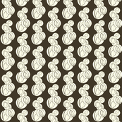 Stylized Marble Pattern_brown and white