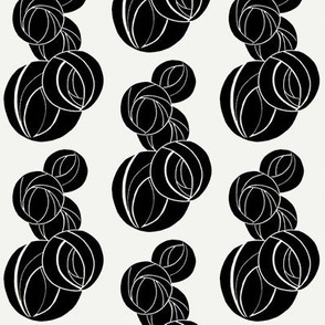 Stylized Marble Pattern in black and white