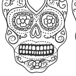 Hollie's Mexican Sugar Skulls B/W