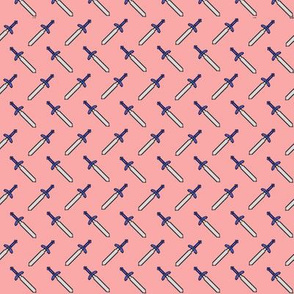Pixel Swords on Pink