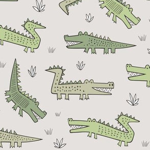 Alligators Crocodile in Green