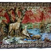 Deers_retro_vintage_wall_rug