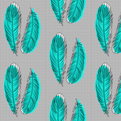 Feathers - Teal