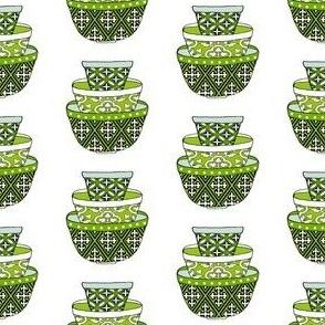 Retro Green Bowls