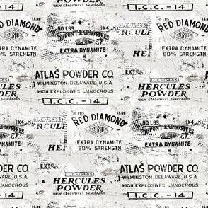 gun powder labels