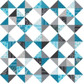 Trillian's Cheater Quilt - Blues