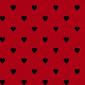 Black Hearts on Dark Red