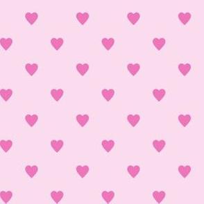 Dark Pink Hearts on Light Pink