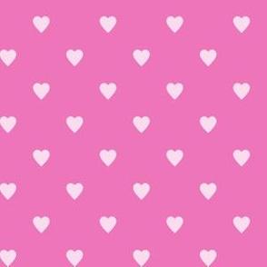 Light Pink Hearts on Dark Pink