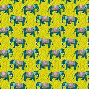 elephants on grass