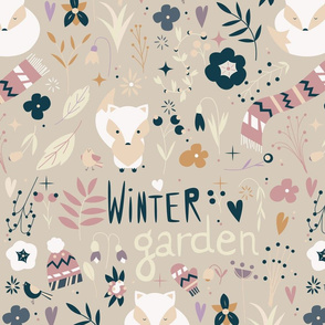 Winter garden pattern 004