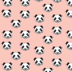 panda head - pink // cute trendy hipster bear animal kids nursery baby design