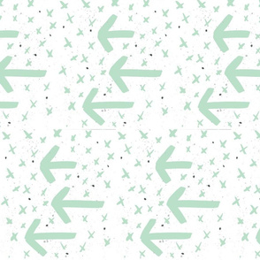 mint watercolor arrows - arrows and crosses
