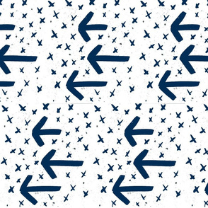 navy watercolor arrows - arrows and crosses