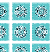 Turquoise Blossom Block