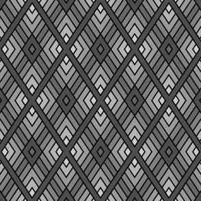 diamond fret : dark grey