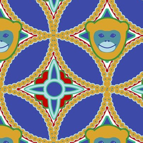 Golden Monkey Overlapping Circles