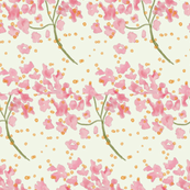 Delicate Pink Hydrangea Pattern