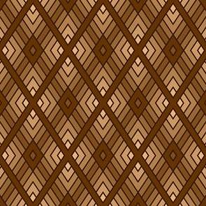 diamond fret : chocolate brown