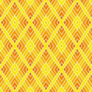 diamond fret : yellow orange