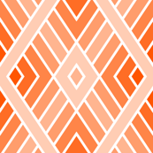 diamond fret : vermilion orange