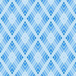 diamond fret : azure blue