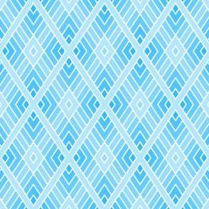 diamond fret : sky blue