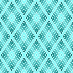 diamond fret : cyan teal